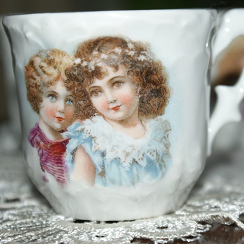 Small Porcelain Cups with Images of (Victorian?) Children