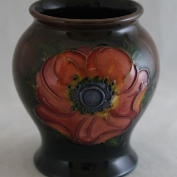 William Moorcroft Anenome Vase  - Art Pottery