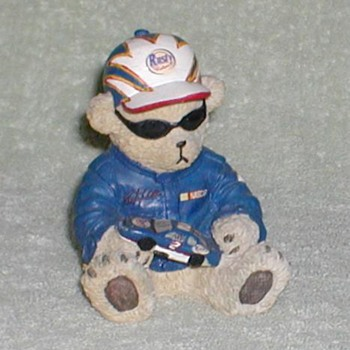 Rusty Wallace NASCAR Bear Figurine