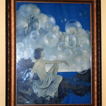 1904 Maxfield Parrish Print 'Air Castles'