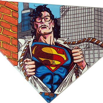 Superman Pop Art by Steve Kaufman
