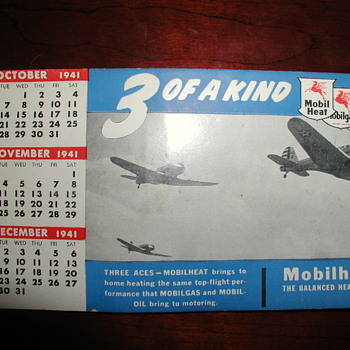 Oct. - Dec. 1941 Calendar - Advertising
