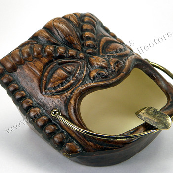 1960 Treasure Craft Tiki Ashtray