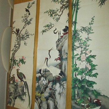 Grandpa's Chinese Tapestry Scrolls - Asian