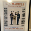 Huge Framed Marine Poster From New York Recruiting Station
