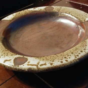 Brown Drip Plate - Unknown Maker