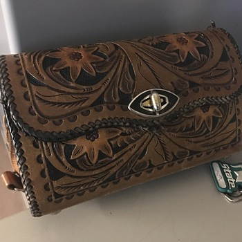 Tooled Leather Purse - Accessories