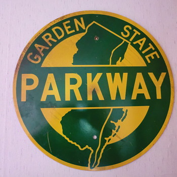 1962 Garden State Parkway Shield (NJ) - Signs
