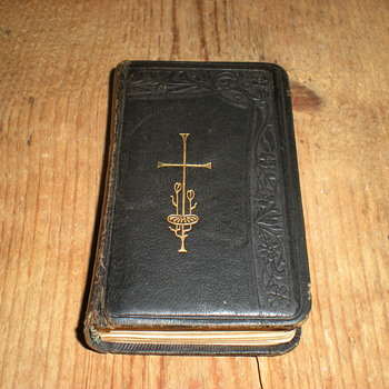 Miniature German religious book with art nouveau motifs 1893.