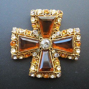 Coro Maltese Cross - Year Made? - Costume Jewelry