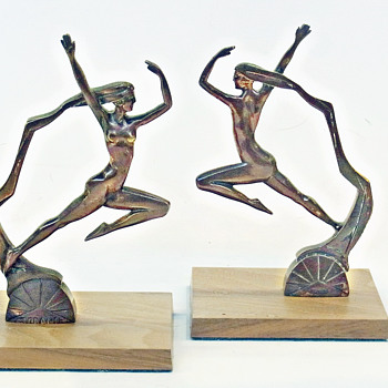FRENCH NUDE DANCING GIRL CAR MASCOTS BY MORANTE 1925
