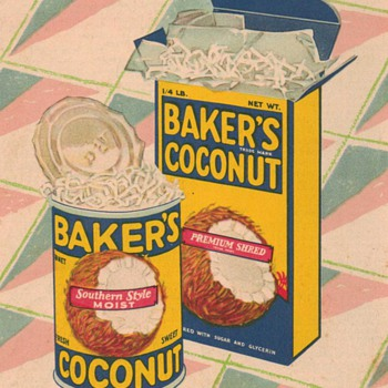 1931 - Baker's Coconut Advertisement - Advertising