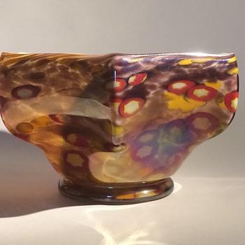 Kralik millefiori Hexagonal bowl