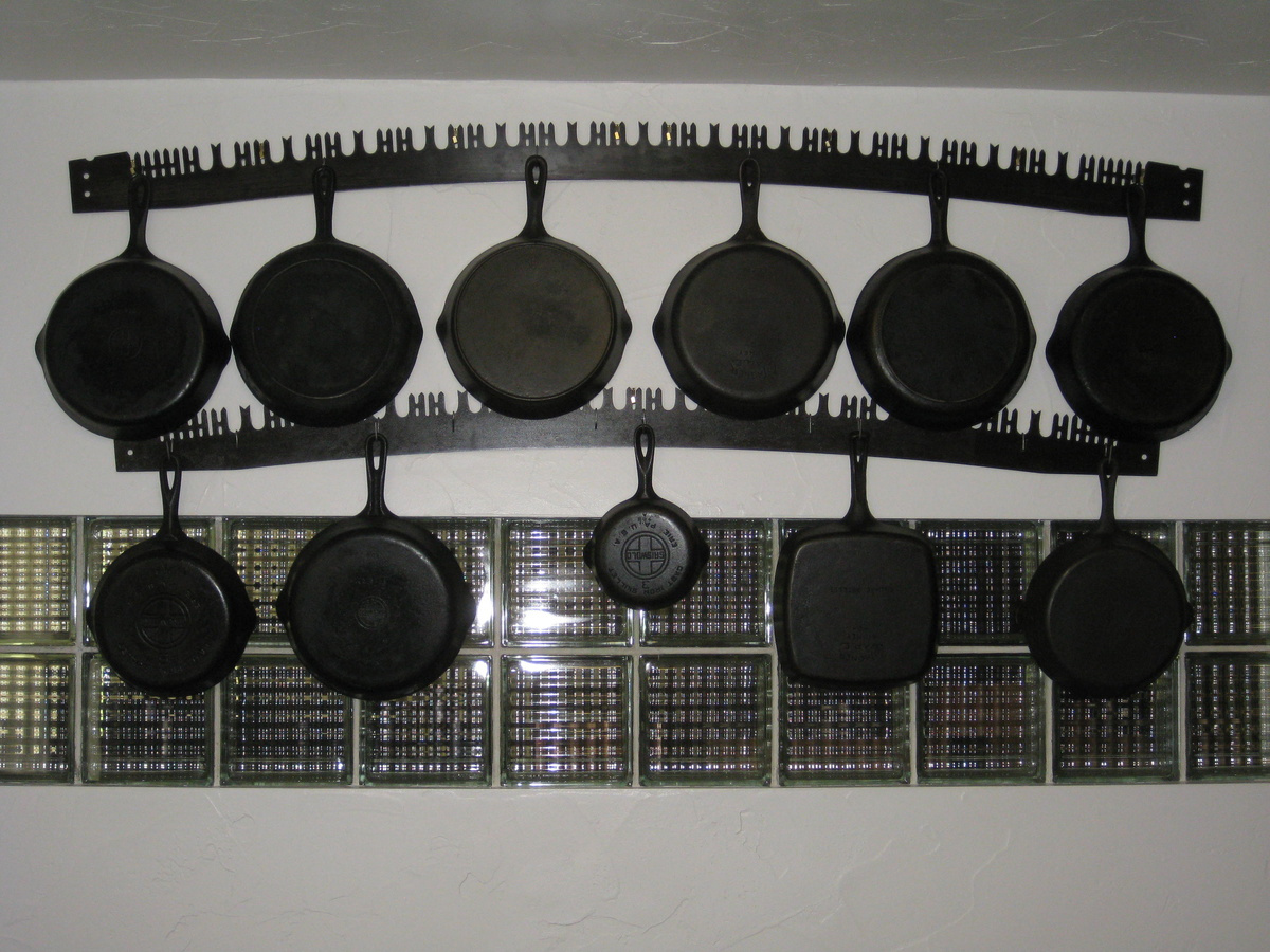 My Antique Pot Rack Using Two-man Saw Blades | Collectors ...