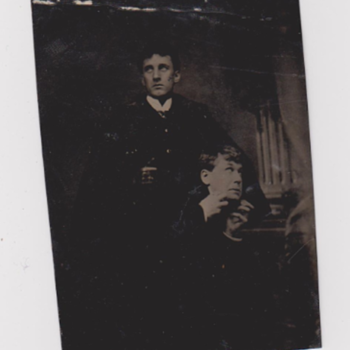 Tintype of Dr. Jekyll and Mr Hyde Actors