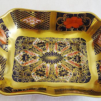 Royal Crown Derby  1128 Old Imari Trinket dish - China and Dinnerware