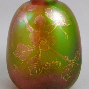 Harrach Decorated Rainbow Vase c.1890 - Art Glass