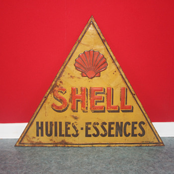 shell tin sign - Petroliana