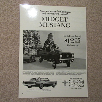 Mustang pedal car ad- 1964 & Today