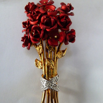 Metal Rose Pins - Costume Jewelry