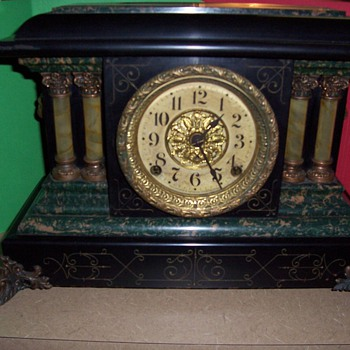 1910 Seth Thomas Adamantine Mantle Clock - Clocks