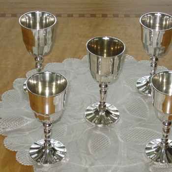 Silver wine goblets - Sterling Silver