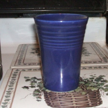 1940's Cobalt Blue Fiesta Tumbler - China and Dinnerware