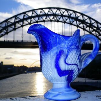 GREEENER MALACHITE MILK CREAM JUG SUNDERLAND - Art Glass