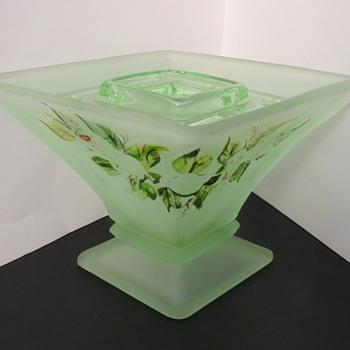 Bagley Glass Spinette Vase - Art Deco