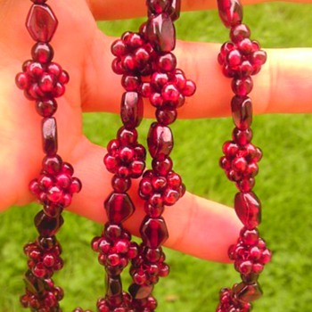 Garnet or glass? - Costume Jewelry
