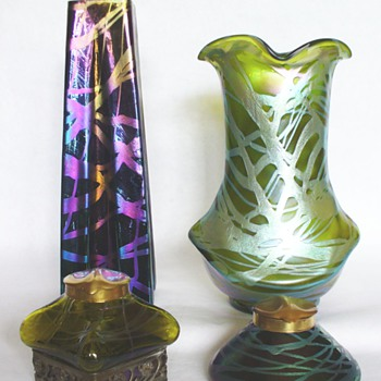 KRALIK INKWELLS AND VASES 04 - Art Glass