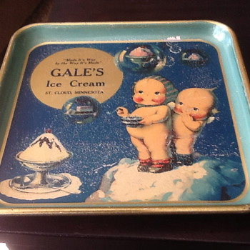 Rose O'Neill Kewpie Ice Cream shop tray - Dolls