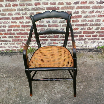Black cane seat chair