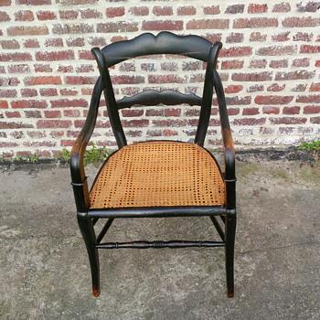 Black cane seat chair