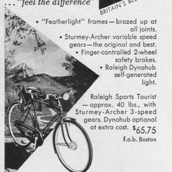 1952 - Raleigh Bicycles Advertisements - Advertising