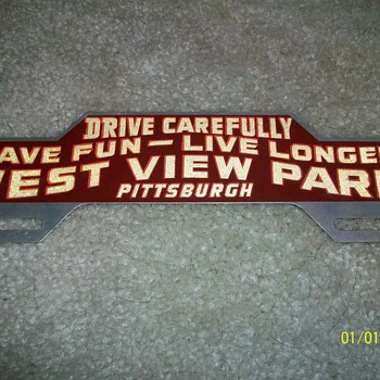 West View Park License Plate Topper - Advertising