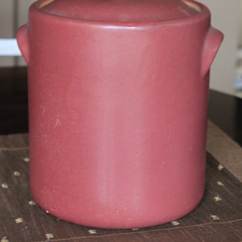 UNIQUE LARGE  MATTE GLAZED CROCK / BEAN POT - Pottery