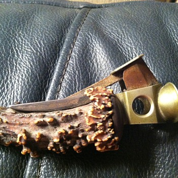 Antler folk art (cigar cutter?) - Tobacciana