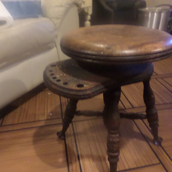 i believe antique swivel adjustment stool