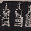 Whimsey in a Bottle Carvings of Master Whittler Daniel Rose RPPC Set