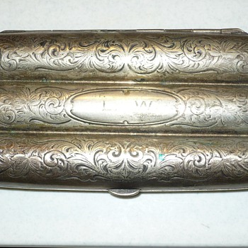 antique sterling silver cigar holder - Silver