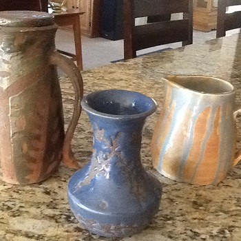 Beautiful Thrown Pottery Pitcher Pot and Vase - Art Pottery