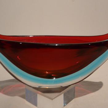 FLAVIO POLI SOMMERSO GONDOLA SEGUSO  - Art Glass