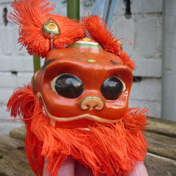 old puppet ,lion dancer or Foo /Fu dog??