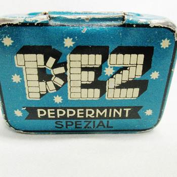 Pez early tin box 1930 - Advertising