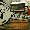 Vintage Curtis industries Key sign