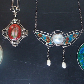 Arts & Crafts Enamel Pendants