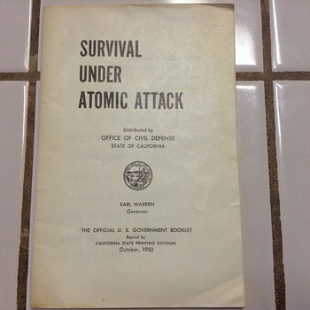 Survival under atomic attack booklet - Advertising