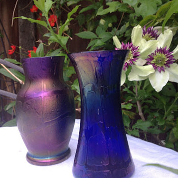 Cobalt Kralik Pampas - Art Glass