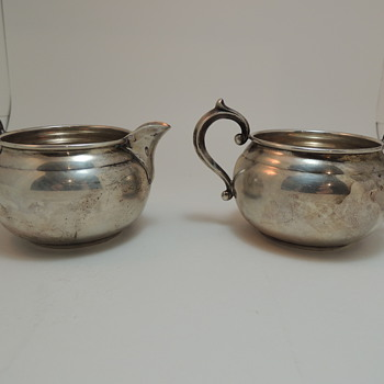 Gorham Sugar Bowl and Creamer Set 909 &amp; 910 - Sterling Silver